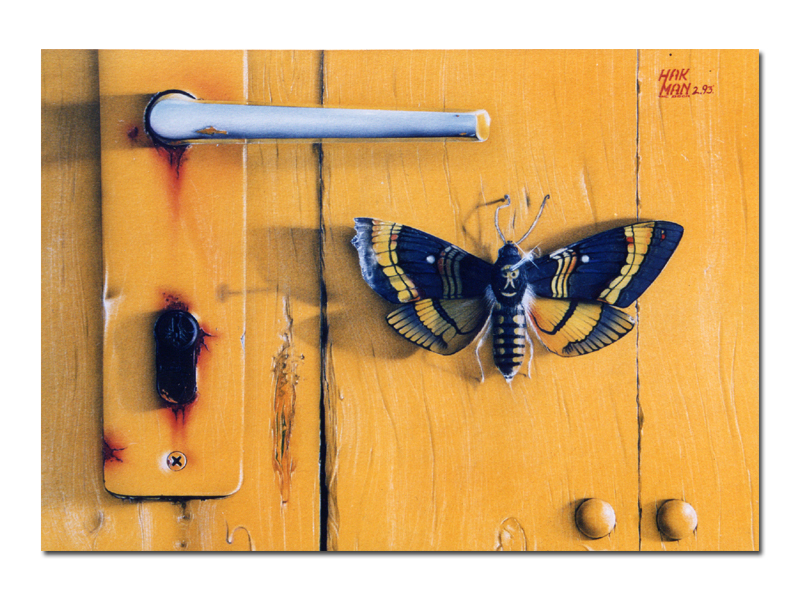 The DOOR, 1993, Mixtechnic on board, 33 x 22 cm, Private Collection Utescheny Holding/Germany